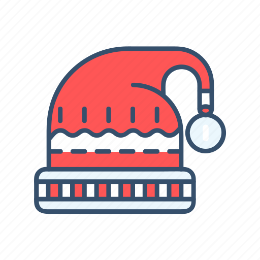 christmas, hat, new year, snow icon