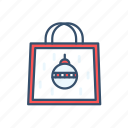 bag, buy, christmas, new year, shop icon