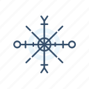 christmas, new year, snow, snowflake icon