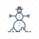 christmas, new year, snow, snowman icon