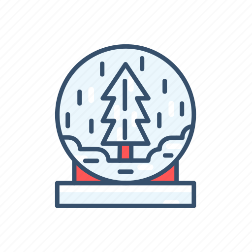 ball, christmas, new year, snow, snowy icon