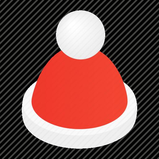 Cap, decoration, hat, holiday, isometric, santa, xmas icon - Download on Iconfinder