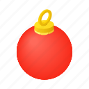 decorative, decor, ball, isometric, christmas, decoration, xmas