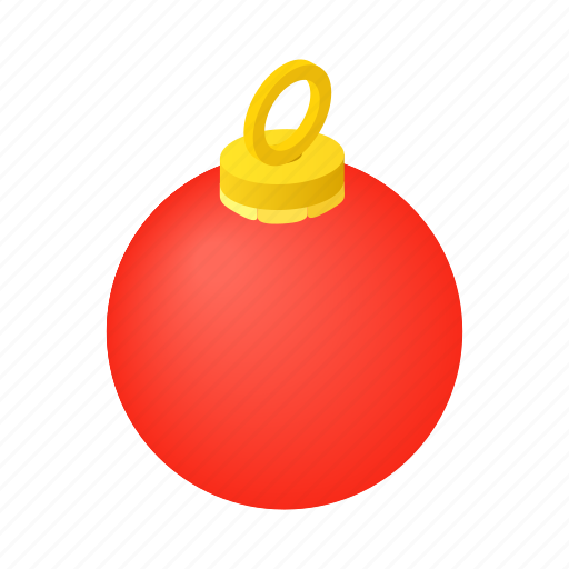 ball, christmas, decor, decoration, decorative, isometric, xmas icon