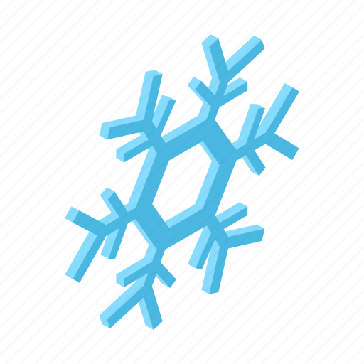 cold, isometric, shadow, snow, snowflake, weather, winter icon