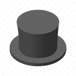 cap, christmas, cylinder, fun, hat, isometric, snowman icon