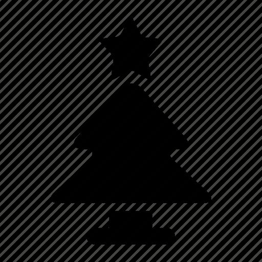 christmas, pine, star, tree icon
