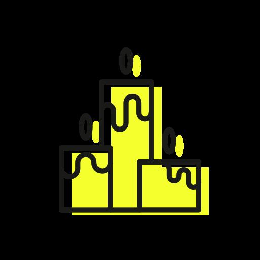 candles, christmas, christmastime, cozy, light, three icon