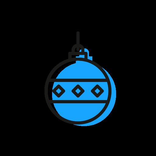 ball, christmas, christmastime, deco, holiday, snow icon