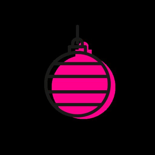 Ball, christmas, christmastime, deco, holiday, snow, stripes icon - Free download