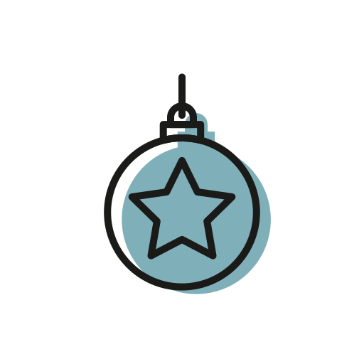 Ball, christmas, christmastime, deco, holiday, snow, star icon - Free download