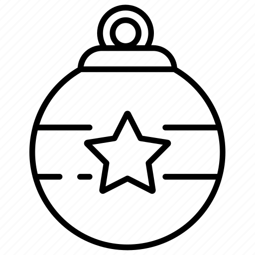 bell, christmas, decoration, lamp, line icon