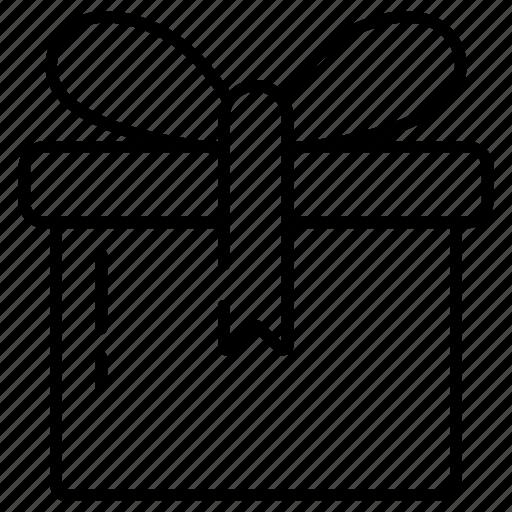 box, celebration, christmas, gift, gift box, line icon