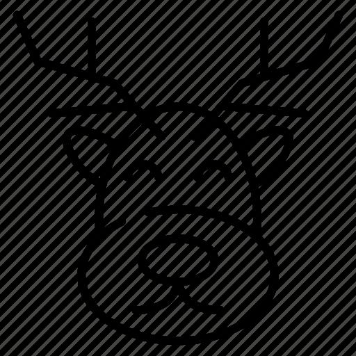 animal, christmas, deer, santa deer icon