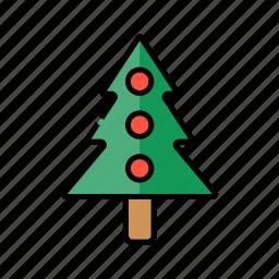 christmas, christmas tree, decoration, pine, xmas icon