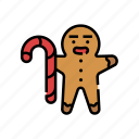 baked, bakery, christmas, cookies, ginger, ginger bread, xmas icon