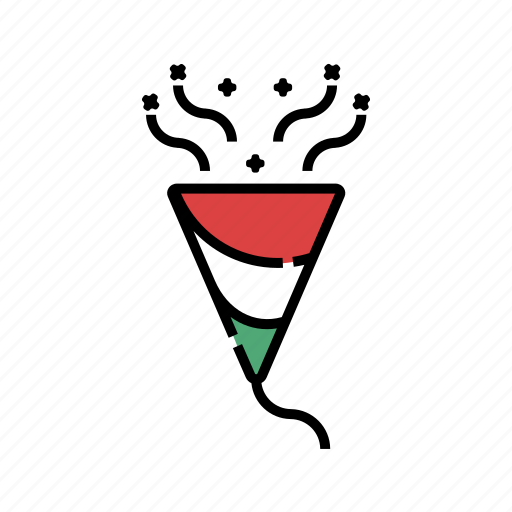 christmas, paper flap, paper popper, party, popper, xmas icon