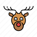 animal, christmas, deer, reindeer, winter, xmas