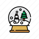 christmas, collection, decoration, snow, snow ball, snow globe, xmas icon