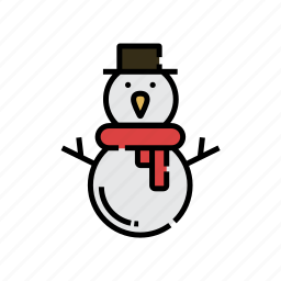 character, christmas, decoration, snow, snowman, xmas icon