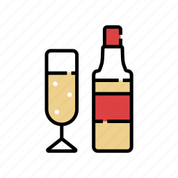 beverage, cheers, drinks, liqour, party, whiskey, xmas icon