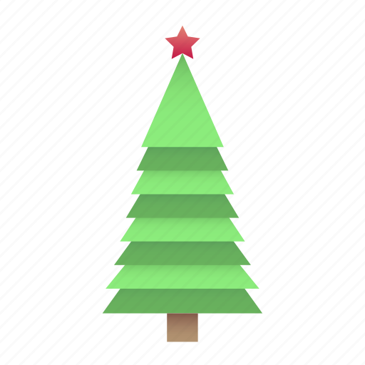 new year, origami, tree icon