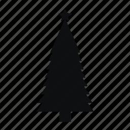 christmas, monochromic, tree icon