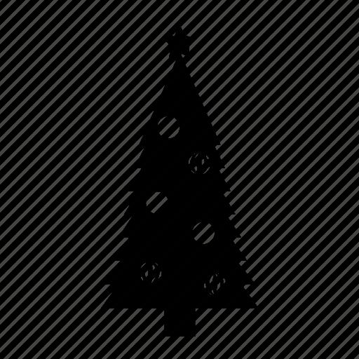 monochromic, silhouette, toys, tree, xmas icon