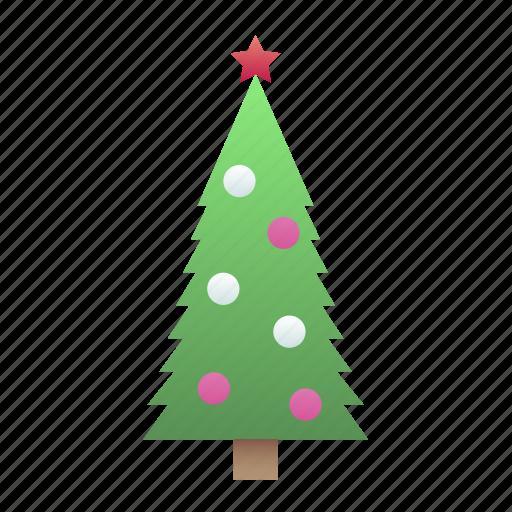 christmas, silhouette, tree icon
