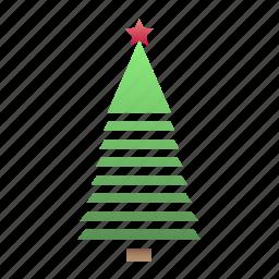 new year, tree stripes, xmas icon