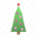 green tree, new year, toys, xmas icon
