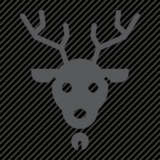 animal, christmas, deer, elk, holiday, reindeer, rudolph icon