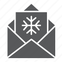 christmas, claus, envelope, greeting, letter, wish icon
