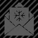 christmas, claus, envelope, greeting, letter, santa, wish icon