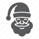 christmas, claus, face, happy, holiday, santa, xmas icon
