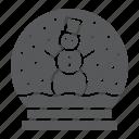 christmas, crystal, globe, snow, snowball, winter, xmas