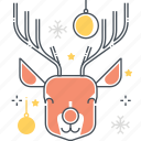 animal, celebration, christmas, new year, nose, reindeer, santa