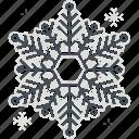 snowflake, christmas, ice, snow, new year, winter, flake, celebration icon