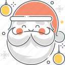 beard, christmas, claus, festive, new year, santa, seasonal icon