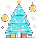 christmas, decorative, gifts, green, new year, pine tree, plant icon