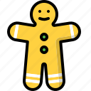 bakery, biscuit, cookie, gingerbread icon