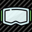 fitness, glasses, snowboard, sport icon