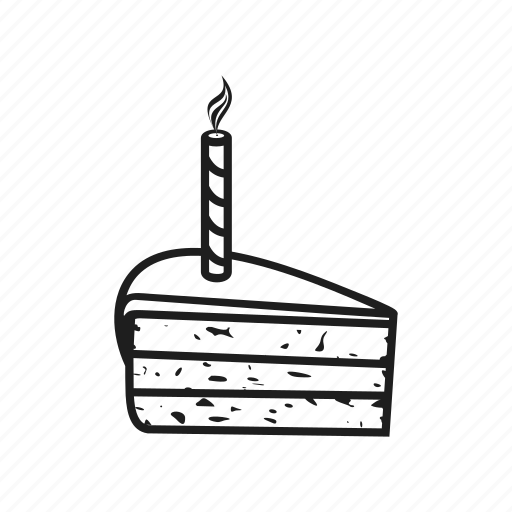 birthday, cake, candle, celebration, event, holiday, pie icon