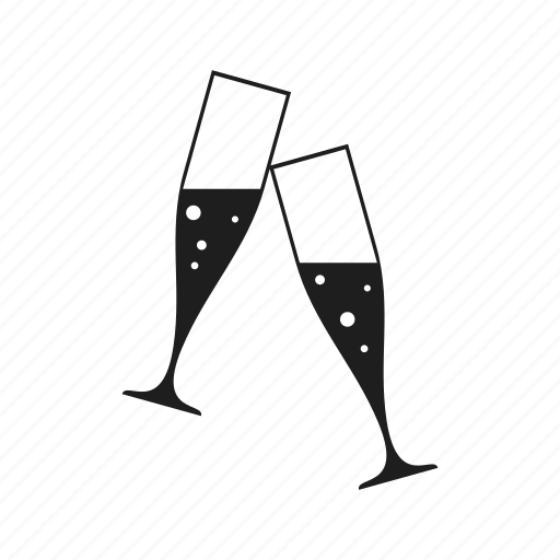 celebration, champagne, christmas, drink, glass, holiday, new year icon