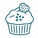 birthday, cake, celebration, christmas, cupcake, muffin, sweets icon