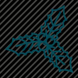 christmas, christmas decoration, christmas leaves, christmas tree, decoration, leaves icon