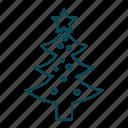 christmas decoration, new yeat, star, decoration, christmas tree, christmas, celebration icon