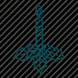 candle, christmas, christmas decoration, flame, xmas icon