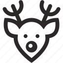 christmas, deer, reindeer, rudolf, winter icon