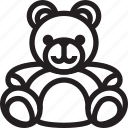 bear, christmas, holidays, newyear, teddy icon